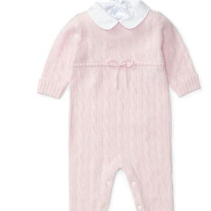 Ralph Lauren Baby Woven-Collar Cashmere Coverall